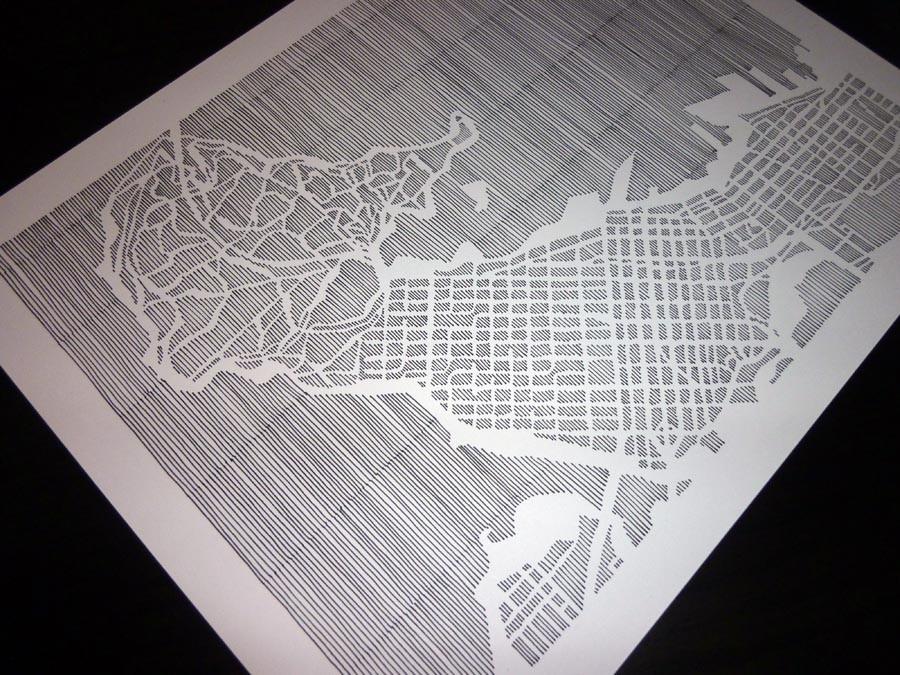 Paveikslą keičia... rankų darbo žemėlapis!