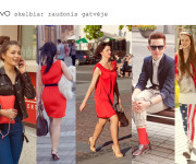 Street Style Lithuania: raudonis gatvėse