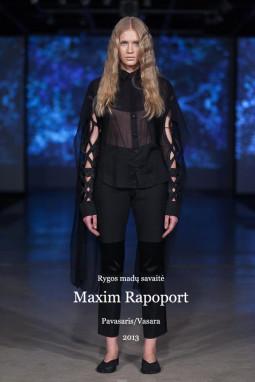 Rygos madų savaitė. Maxim Rapoport (Rusija) SS 13