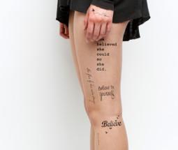 Paveikslėlių žaidimas: laikinos tatuiruotės