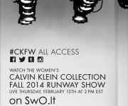 Tiesioginė Calvin Klein Collection FW 14/15 kolekcijos transliacija!
