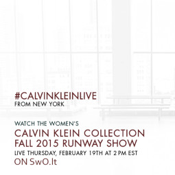 Tiesioginė Calvin Klein Collection FW 15/16 kolekcijos transliacija per SwO.lt!