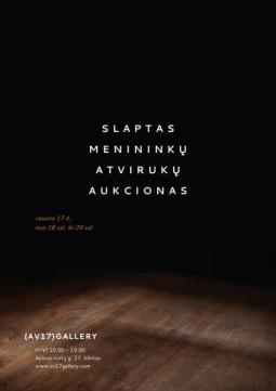Slaptas menininkų atvirukų aukcionas