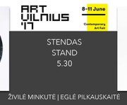 Živilės Minkutės ir Eglės Pilkauskaitės kūriniai – ArtVilnius'17