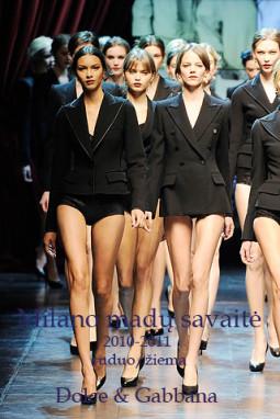 Dolce & Gabbana ruduo/žiema 2010-2011