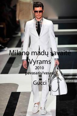 Gucci pavasaris/vasara 2010. Vyrams
