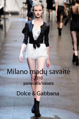 2010-ųjų pavasaris ir vasara pagal Dolce & Gabanna