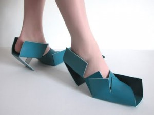 Blue folded shoe