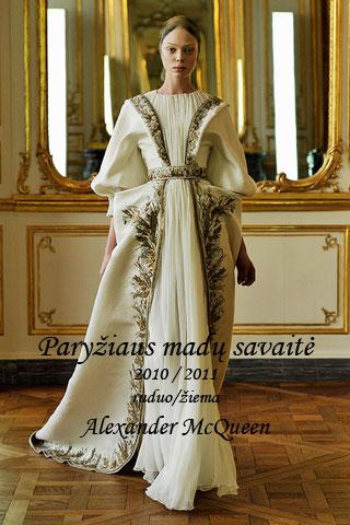 Tanya Dziahileva-Alexander McQueen-ruduo/žiema-2010/2011