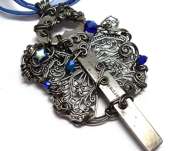Night Wing Key Necklace