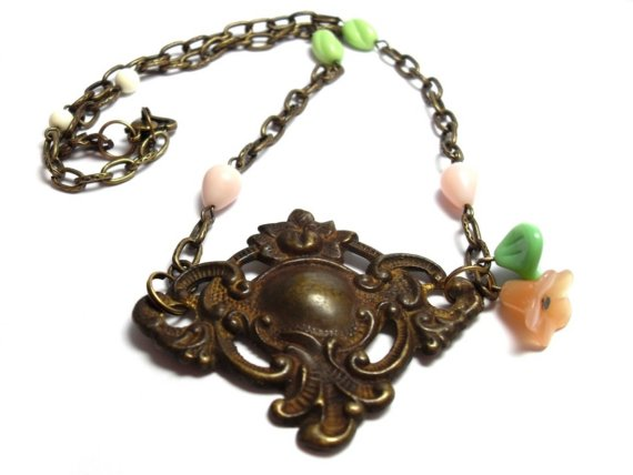 Roses in My Garden Necklace