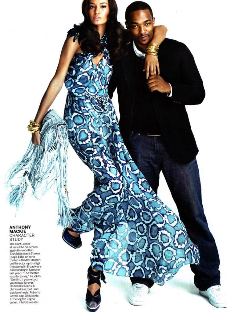Vogue US March 2011. Tamsiaodžiai pasitinka pavasarį