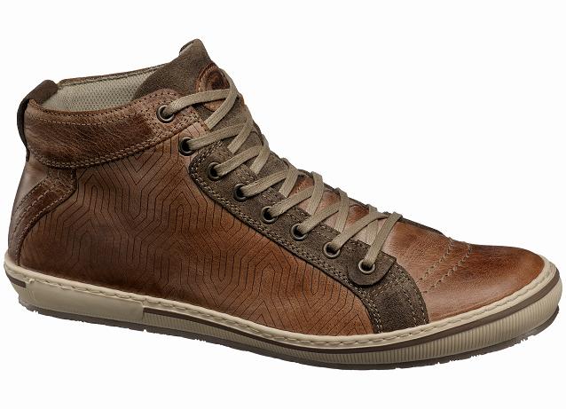 """Šviesiai rudi vintage stiliaus """"AM Shoes"""" sportbačiai su paaukštintu auliuku"""