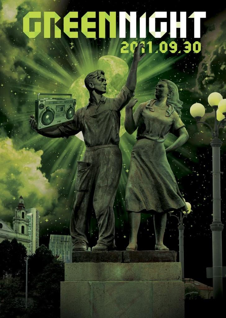 Green night grįžta