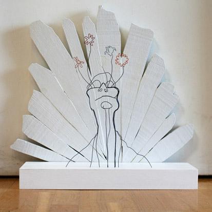 Gavin Worth skulptūros iš vielos