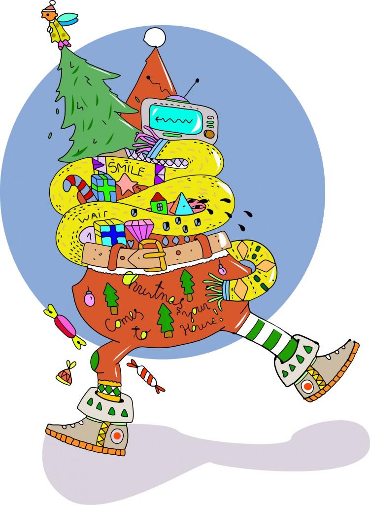 Kalėdų senio iliustracija