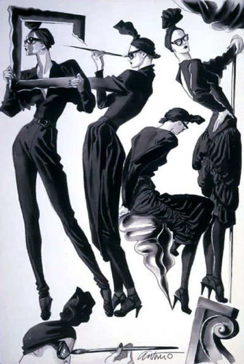 Mados iliustratorius Antonio Lopez