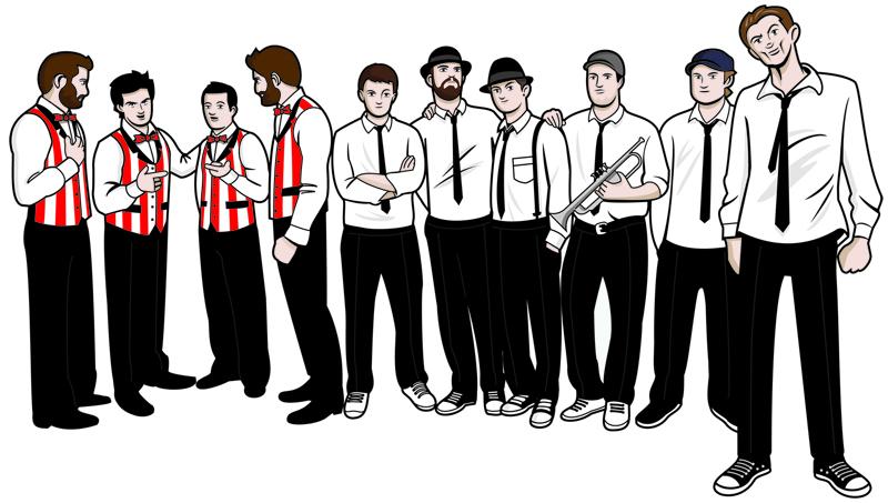 """""""Parov Stelar Band"""" bendražygiai"""