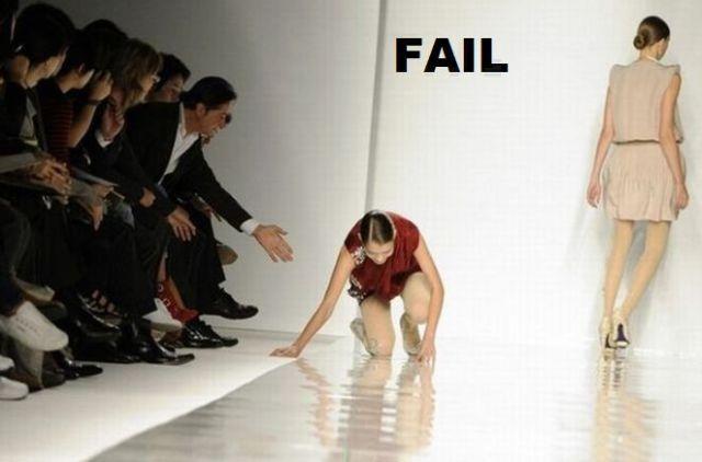 Nesėkmės ant podiumo