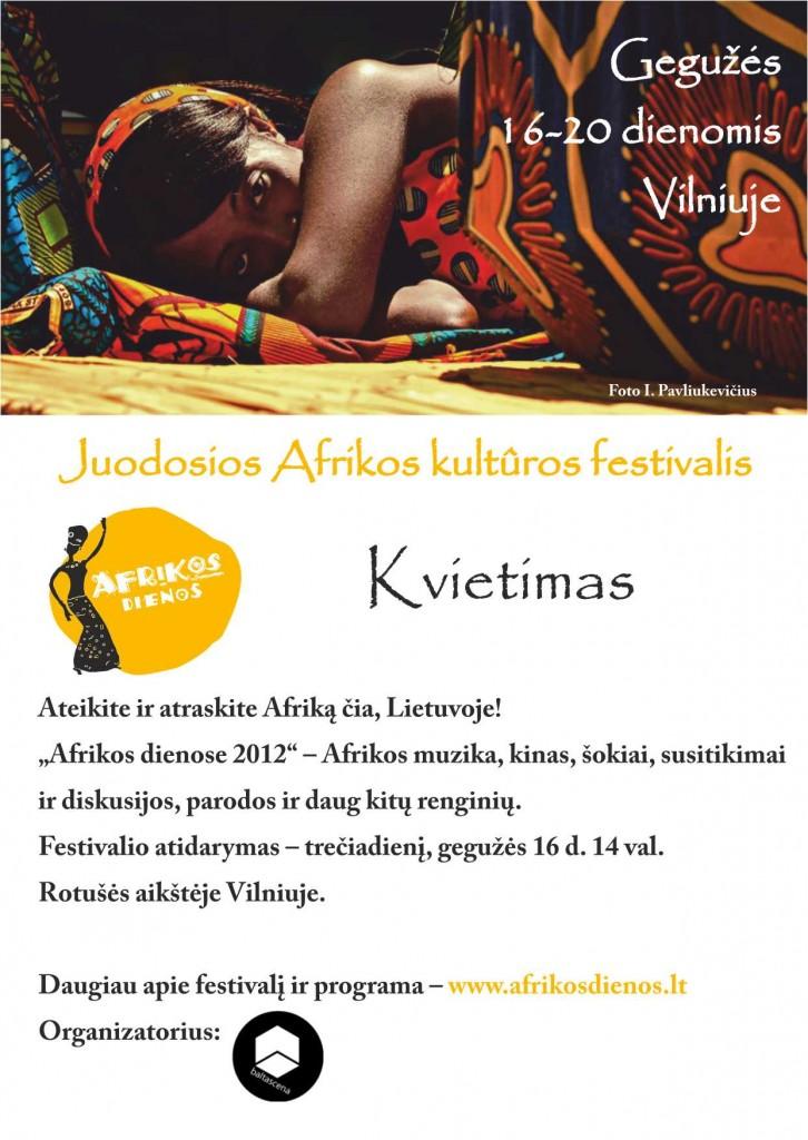 Kvietimas i Afrikos dienas 2012