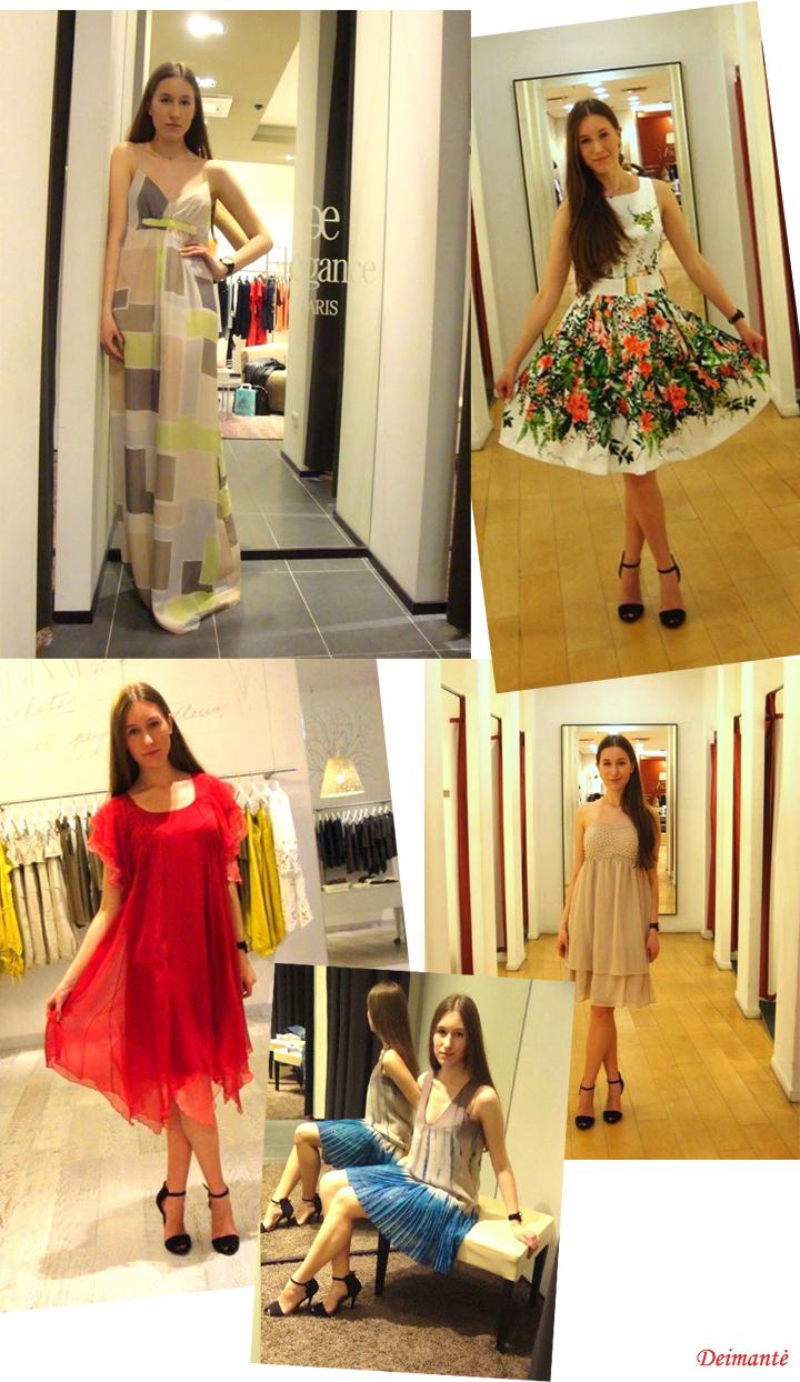 Kukli suknelė, žėrintys aksesuara