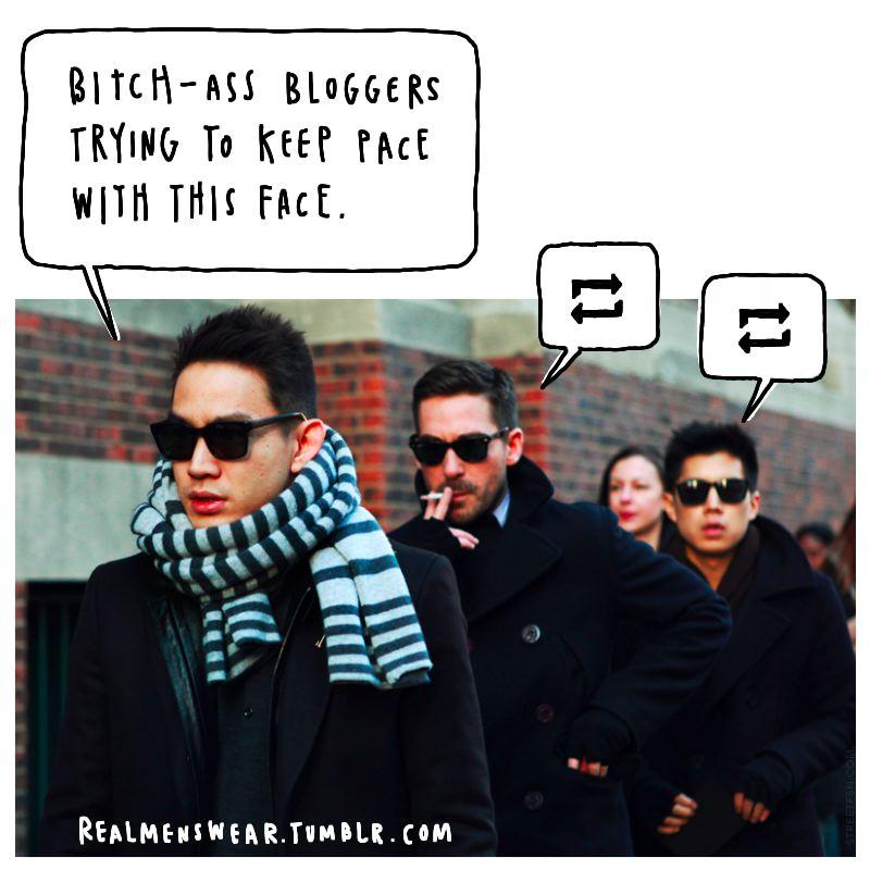 Real men swear fashion blog