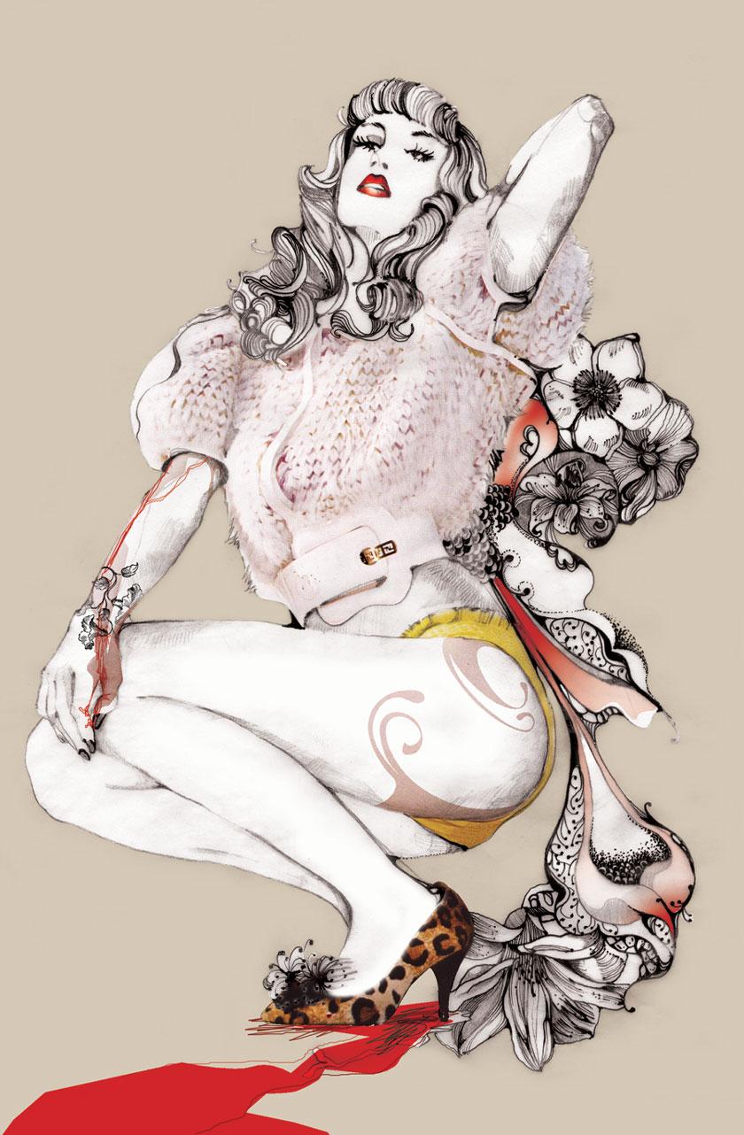 Mados iliustratorė Pomme Chan