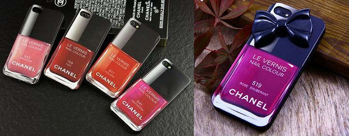 Chanel nagų lako formos iPhone dėkliukas