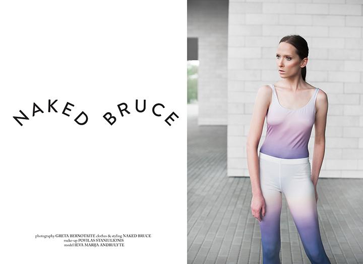 Ieva Marija Andrulytė – Naked Bruce katalogo veidas