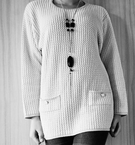 Ilgas ir storas megztinis