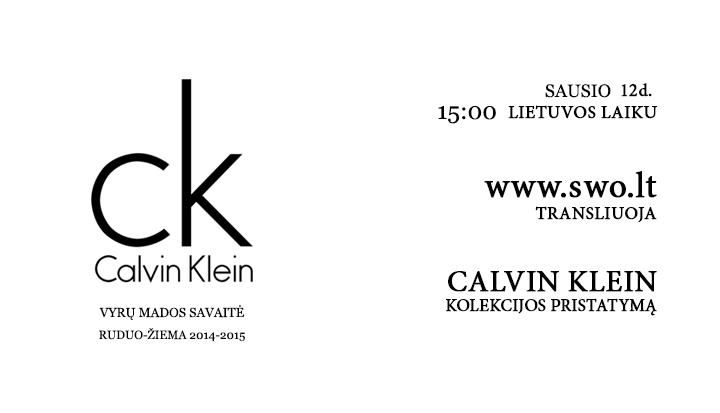 Tiesioginė Calvin Klein FW 14/15 kolekcijos transliacija