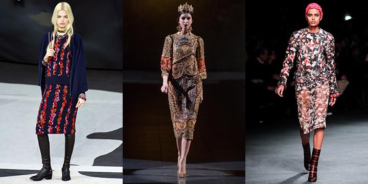 Chanel, Dolce Gabbana, Givenchy