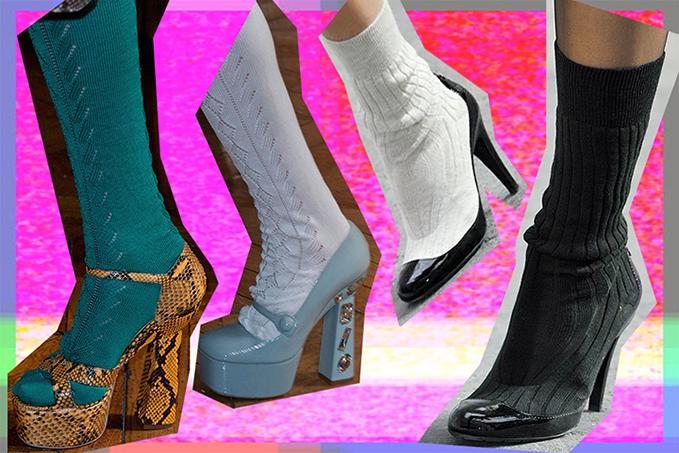 Atviri batai ir kojinės