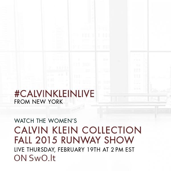 Tiesioginė Calvin Klein Collection FW 15/16 kolekcijos transliacija per SwO.lt