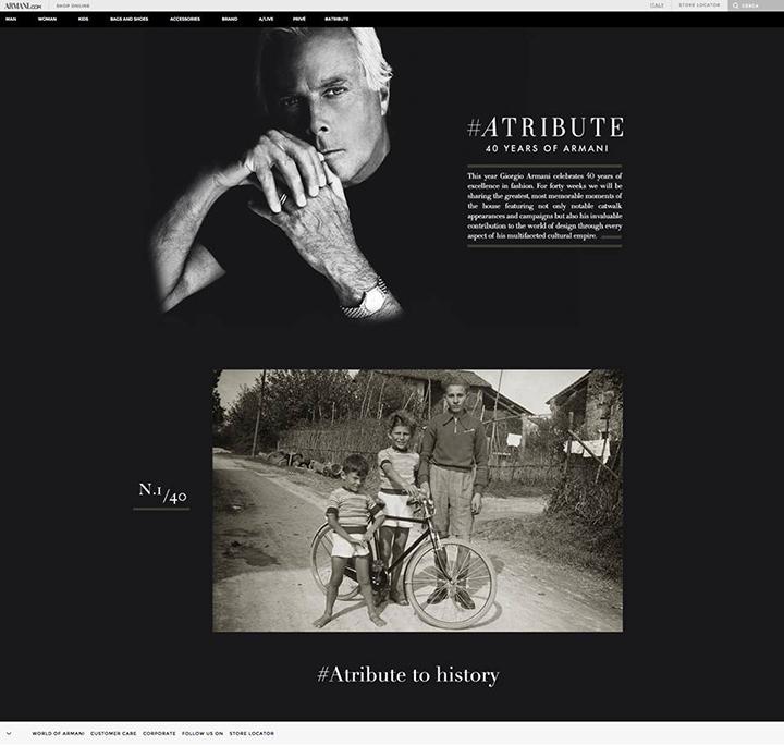 Giorgio Armani #Atribute: 40 Armani metų