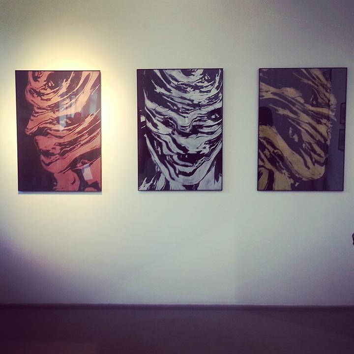 Menininko Adomo Žudžio kūriniai @ galerija Vartai, 2015.