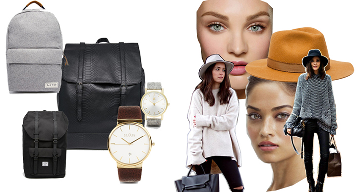 Kuprinės, laikrodžiai – Asos, skrybėlė – Zara. Gamintojų nuotr