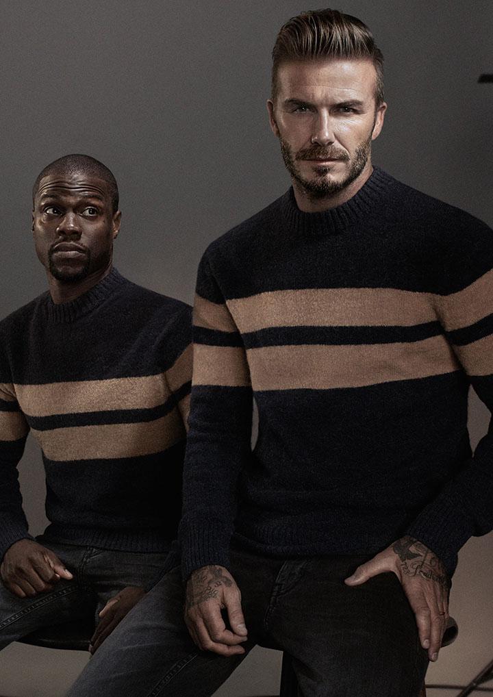 Nauja H&M kampanija su Deividu Bekhemu ir Kevinu Hartu