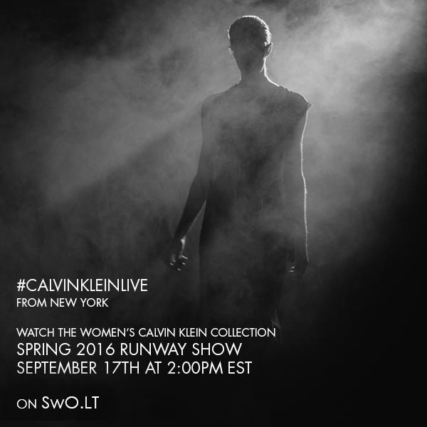 2016 m. pavasaris/vasara moterims: Calvin Klein Collection tiesioginė transliacija