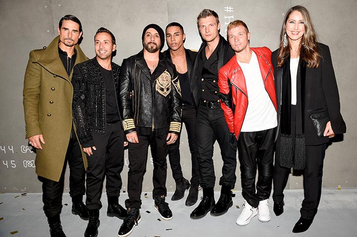 Balmain x H&M kolekcija. Backstreet Boys, Olivier Rousteing, Ann-Sofie Johansson