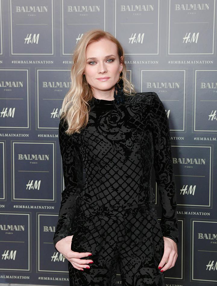 Balmain x H&M kolekcija. Diane Kruger
