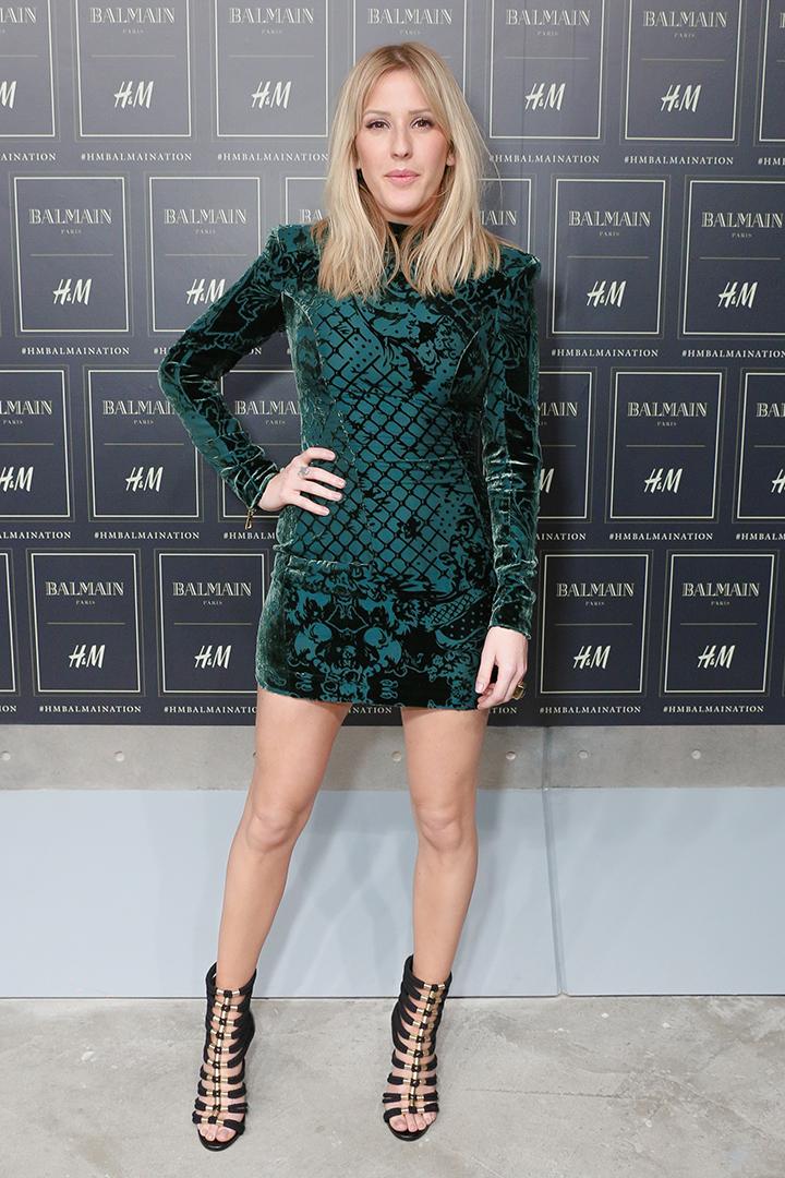 Balmain x H&M kolekcija. Ellie Goulding