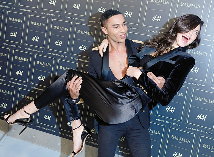 Balmain x H&M kolekcija. Olivier Rousteing, Kendall Jenner