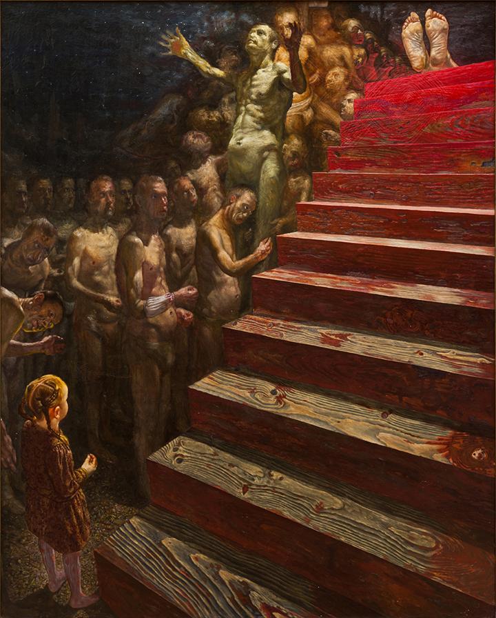 Laiptai. 1989. Drobė, aliejus. Edmundo Armoškos kolekcija