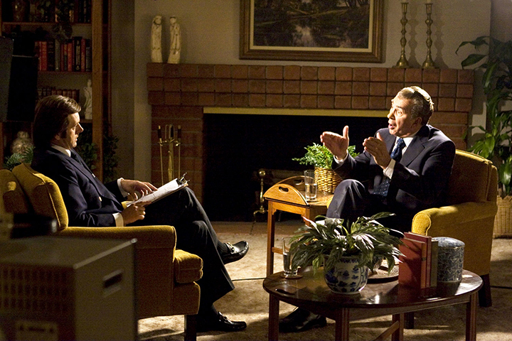 """Frostas prieš Niksoną""  (Frost/Nixon, 2008) rež. Ron Howard"