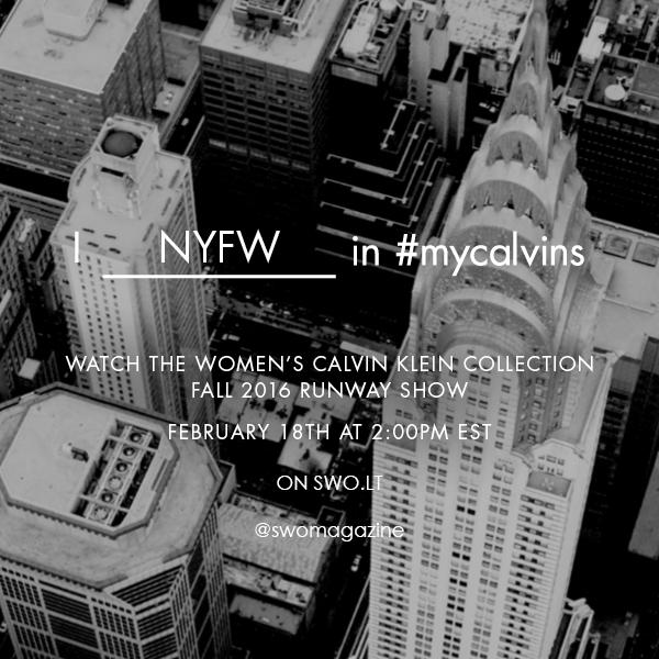 2016 m. ruduo/žiema moterims: Calvin Klein Collection tiesioginė transliacija