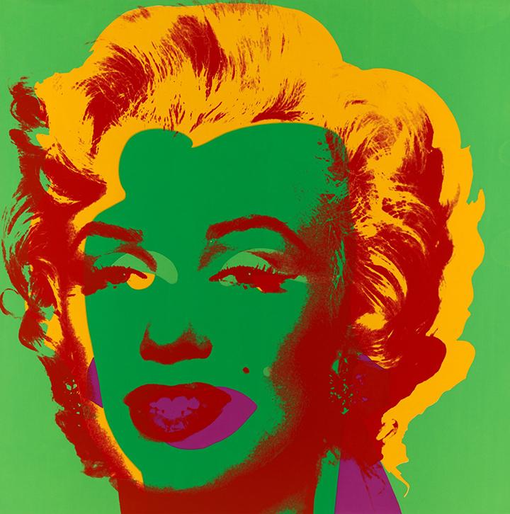 Marilyn Monroe šilkografijos printai