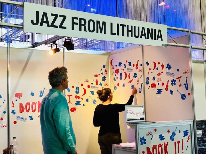 Lietuvos džiazo federacijos stendas
