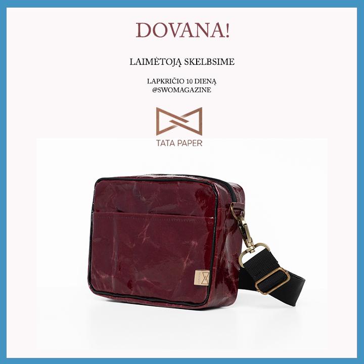 "DOVANA – ""Tata Paper"" rankinė"