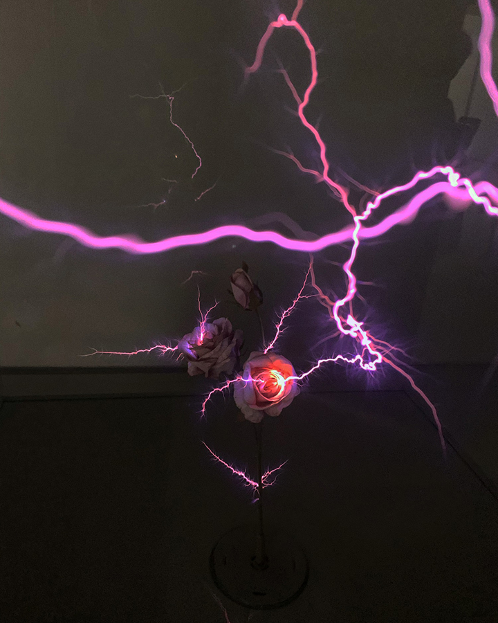 Menininkė Emilija Povilanskaitė naujame kūrinyje pasitelkė elektros iškrovą